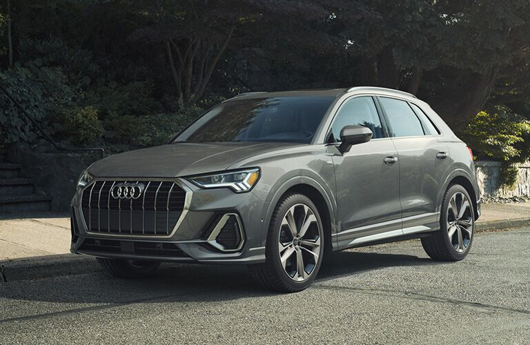 Audi Q3 silver side view