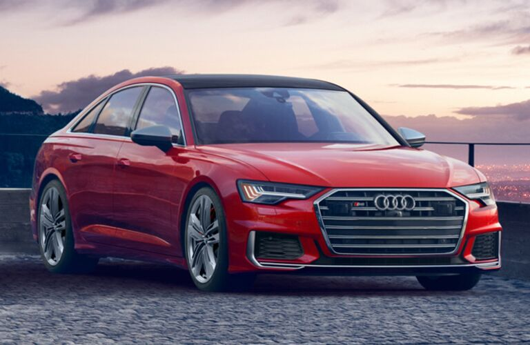 Audi S6 red front view
