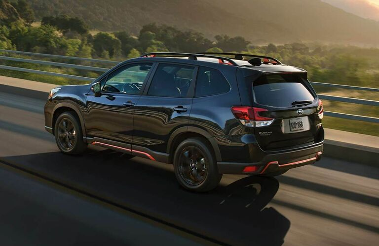 2020 Subaru Forester driving on highway