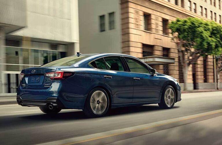 2020 Subaru Legacy driving down the street