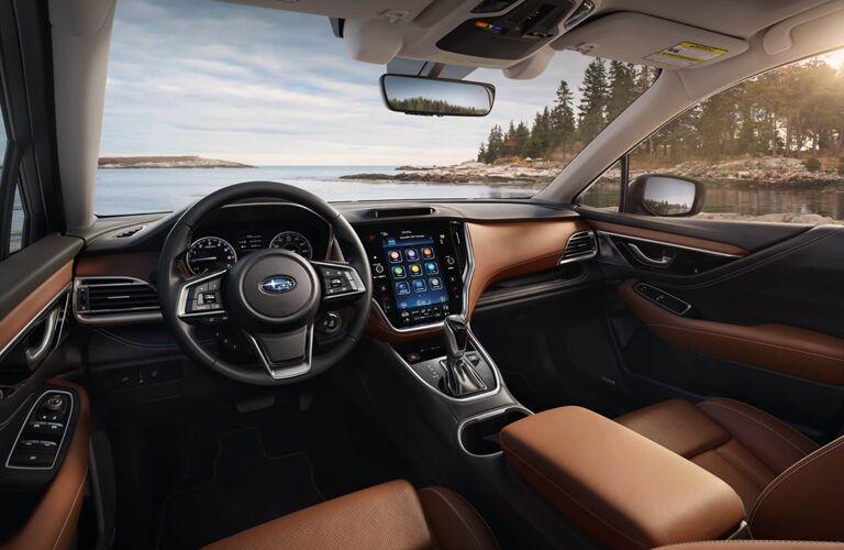 2020 Subaru Outback interior steering wheel and dashboard