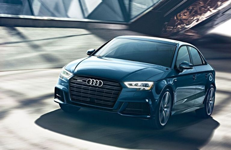 2020 Audi A3 driving on highway