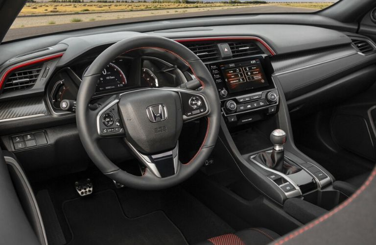 2020 Honda Civic SI steering wheel and dashboard