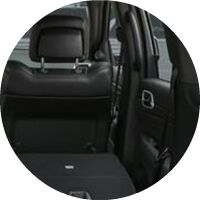 2020 Jeep Grand Cherokee interior rear seat folded and cargo area