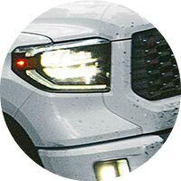 2020 Toyota Tundra headlight closeup