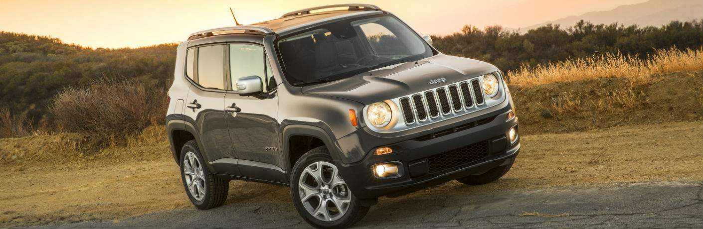 black jeep renegade on dirt road
