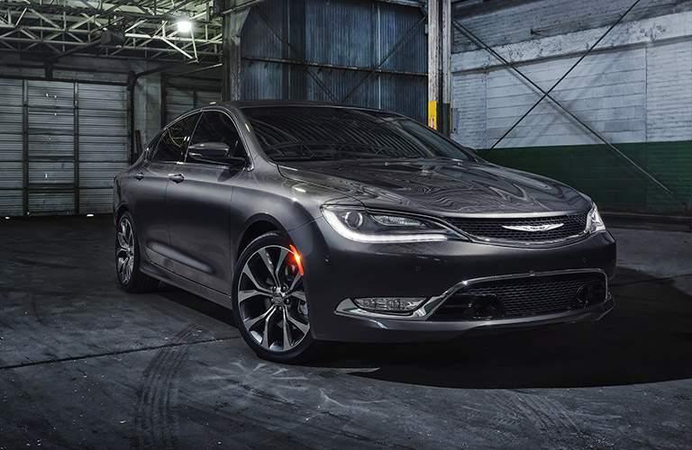 gray chrysler 200 in garage