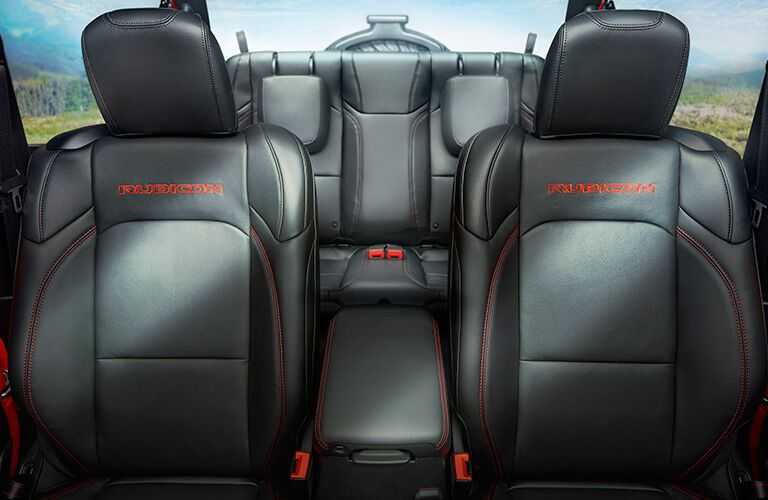 interior seating of 2018 jeep wrangler including front and rear seats