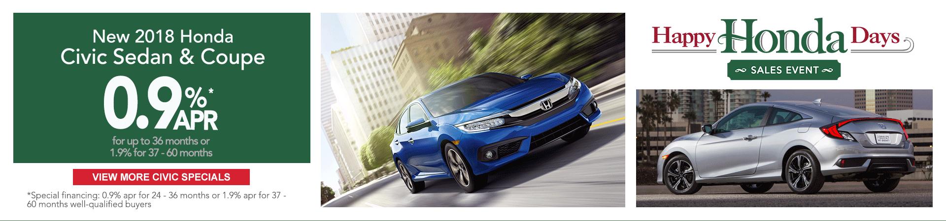 Honda Civic finance specials