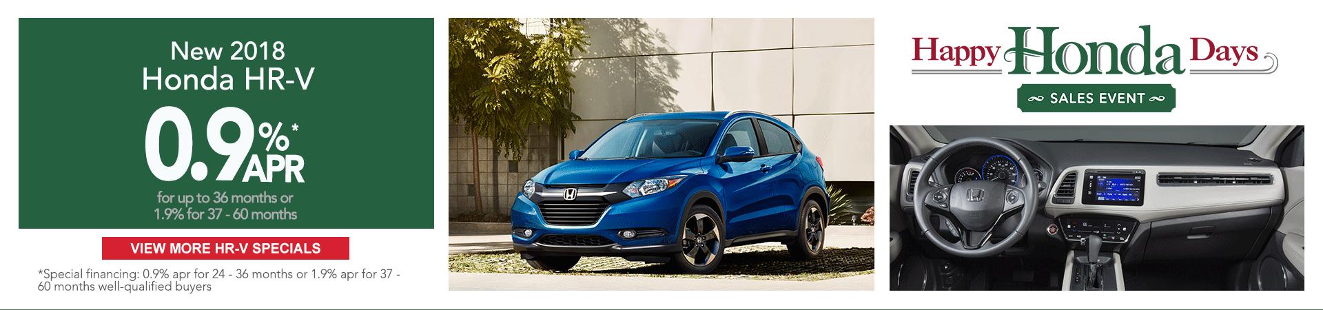 Honda HR-V finance specials