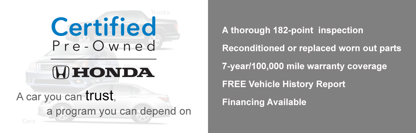 Honda Certified Used Cars