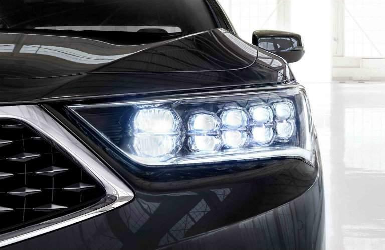 Headlight of Black 2018 Acura RLX