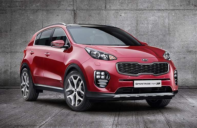 2017 Kia Sportage red front