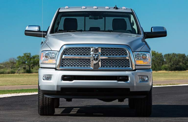 Front View of White 2014 Ram 2500