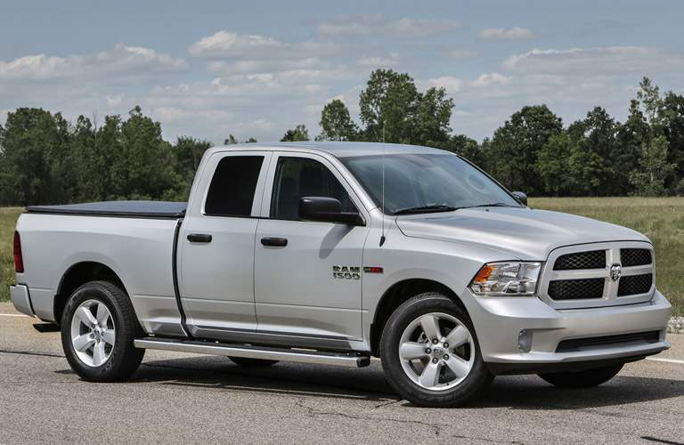 Side View of Silver 2017 Ram 1500