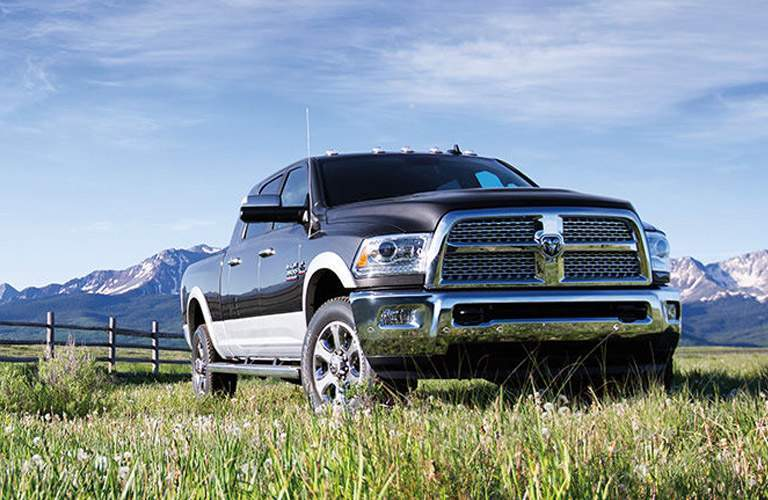 Front View of 2016 Ram 3500 with Mountains in the Background