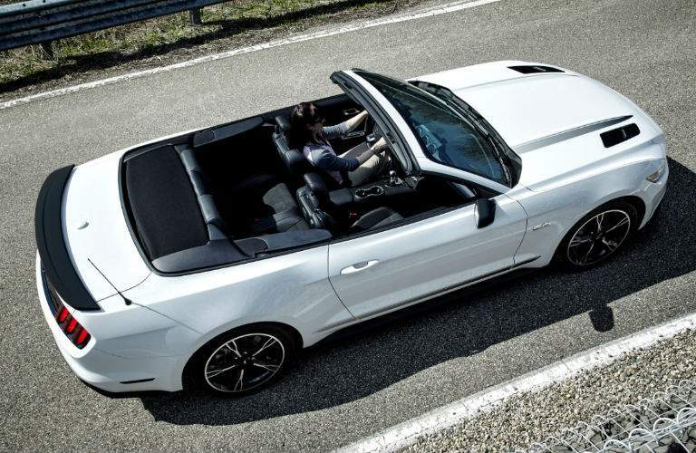 white 2016 Ford Mustang Convertible seen from the top