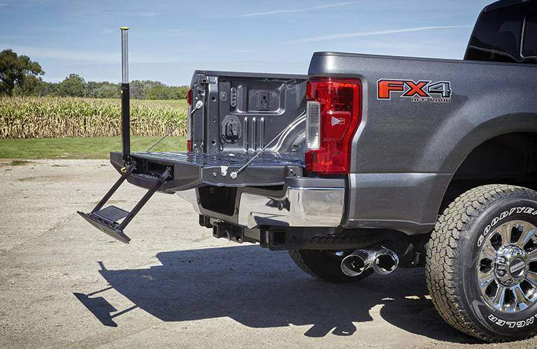 2017 Ford Super Duty pickup truck tailgate step