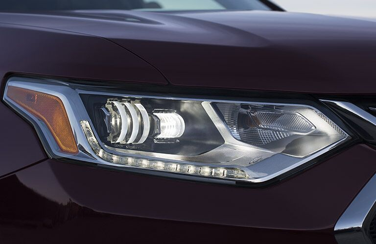 View of 2018 Chevy Traverse headlight