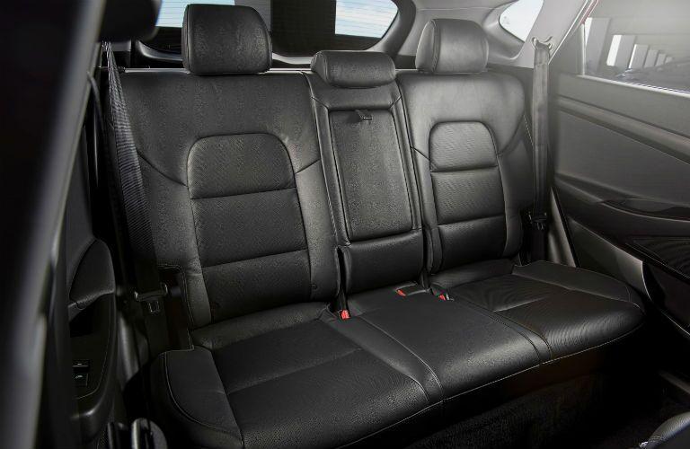 Black Rear Seats of 2018 Hyundai Tucson