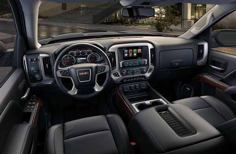 Dashboard and Black Seats of 2018 GMC Sierra 1500