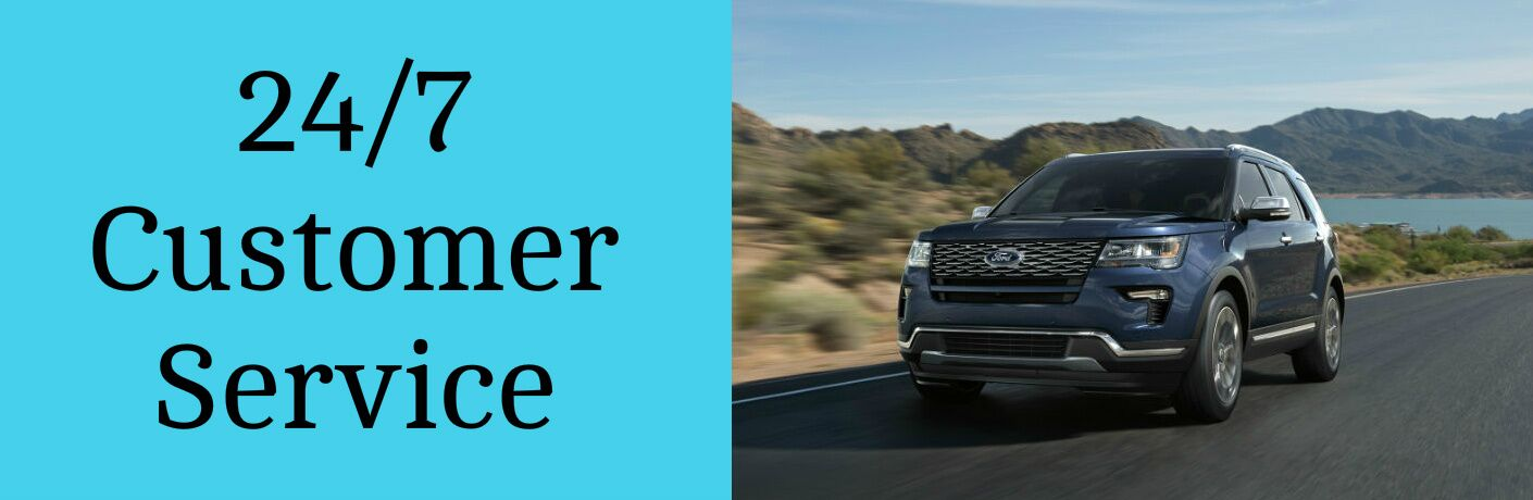 24/7 Customer Service Title and 2018 Ford Explorer