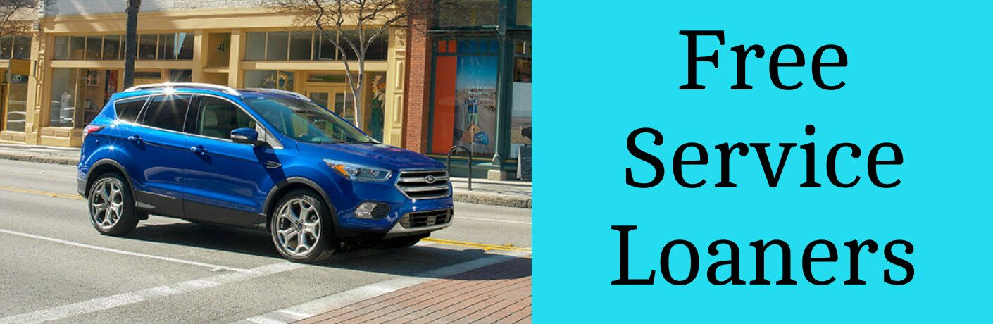 Free Service Loaners Title and Blue 2017 Ford Escape