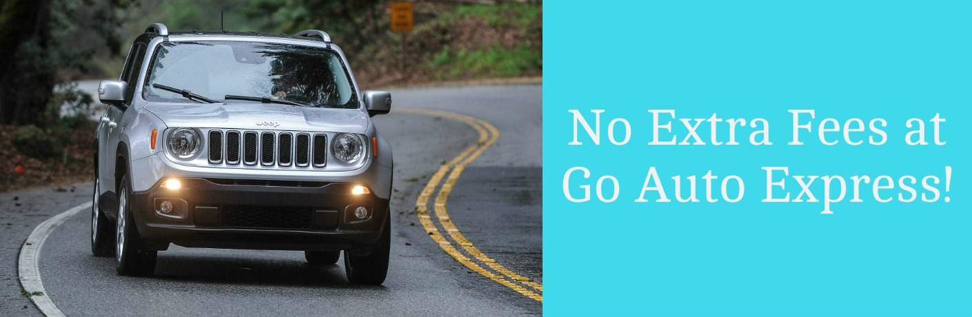 No Extra Fees at Go Auto Express Title and 2017 Jeep Renegade