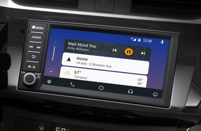 Infotainment system in the 2019 Nissan Sentra