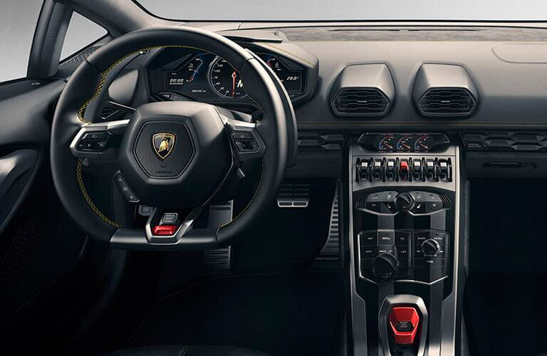 Lamborghini Huracan Coupe steering wheel and center console