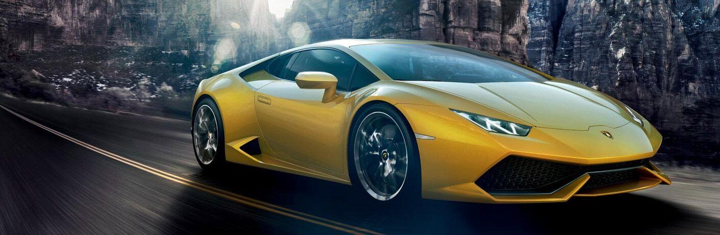 Lamborghini Huracan Coupe yellow front view