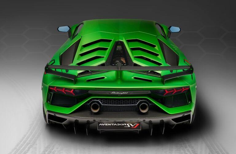 Lamborghini Aventador SVJ green back view