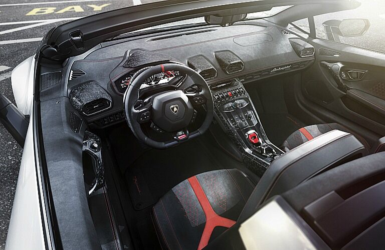 Lamborghini Huracan Performante Spyder interior top view