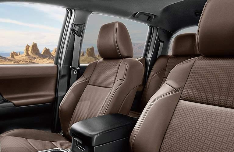 Tan 2017 Toyota Tacoma Leather Interior