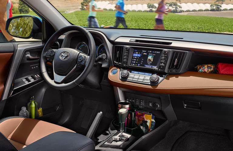 2017 Toyota RAV4 Interior Dashboard with Toyota Entune