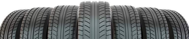 lineup of tire treads