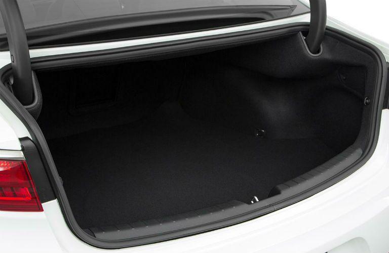 rear trunk space of 2018 kia cadenza with trunk door open