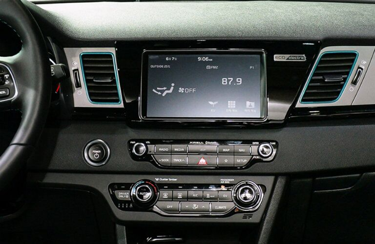 Center infotainment screen of 2019 Kia Niro EV