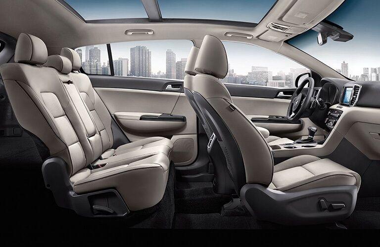 Interior seating in the 2019 Kia Sportage