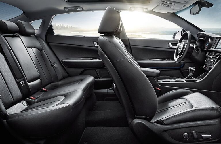 Interior seating of the 2020 Kia Optima Hybrid
