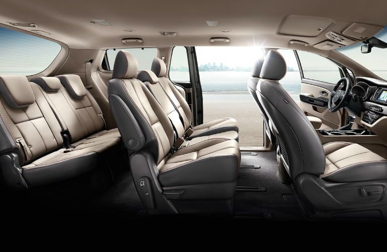 2020 Kia Sedona interior passenger seats