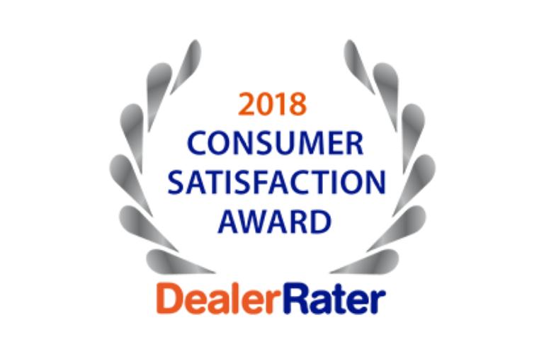 DealerRater 2018 Consumer Satisfaction Award