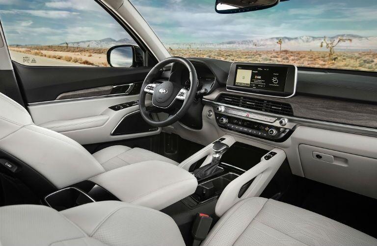 Front seat interior of the 2020 Kia Telluride