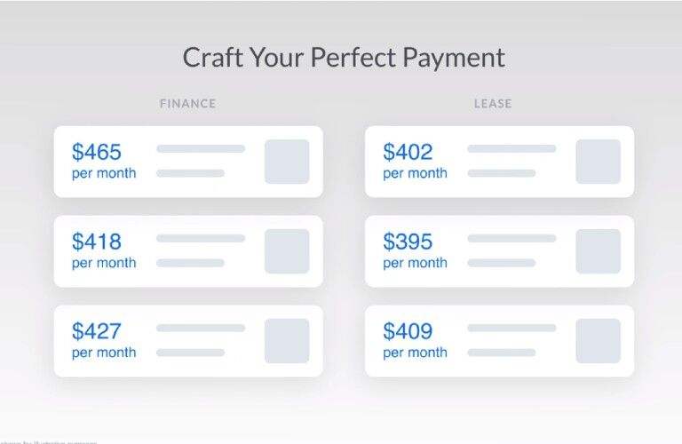 craft your perfect payment finance and lease options