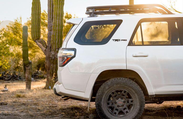 rear of the white 2020 Toyota 4Runner