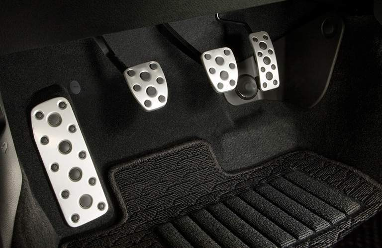 Shot of 2018 Toyota 86 pedals with clutch shown as part of manual transmission system