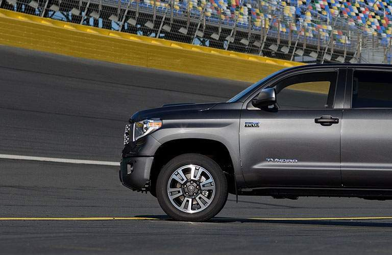 Gray 2018 Toyota Tundra parked on racetrack