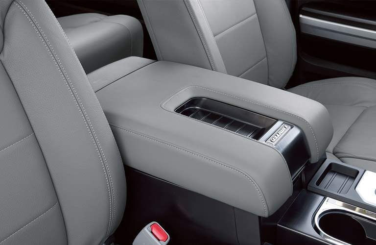 Center console and cupholder of 2018 Toyota Tundra
