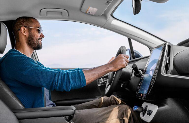 man driving 2019 Toyota Prius Prime
