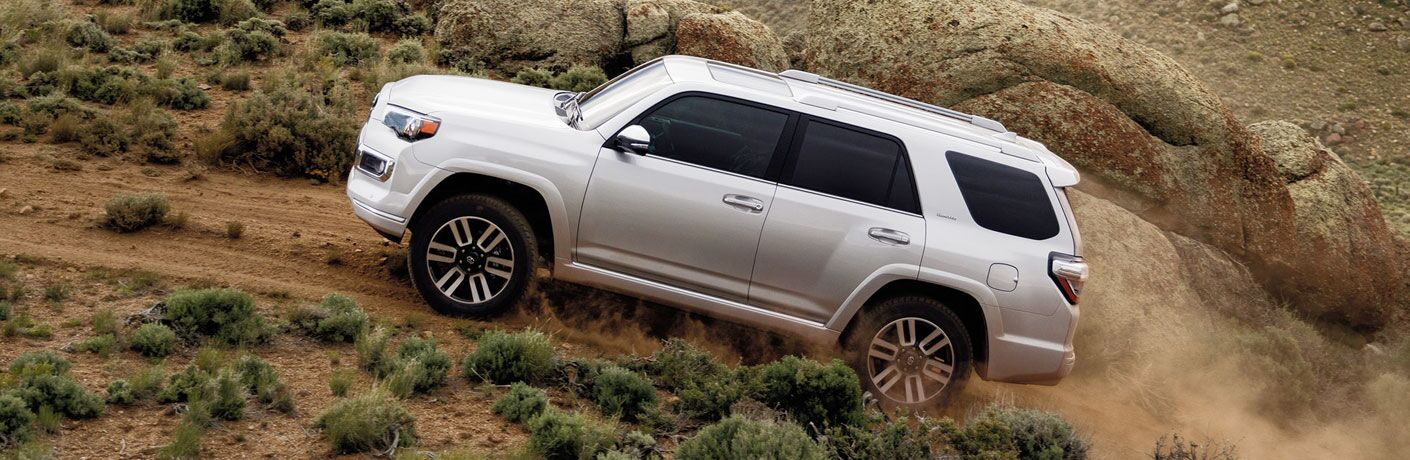 white 2020 Toyota 4Runner driving up mountain